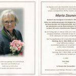 Wir verabschieden uns von Maria Zauner